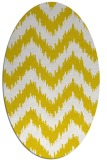 rug #210197 | oval white stripes rug