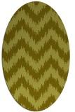 rug #210217 | oval light-green rug