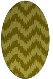 rug #210217 | oval light-green stripes rug