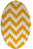 rug #210233 | oval light-orange stripes rug