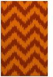rug #210505    red-orange stripes rug