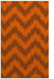 rug #210513 |  red-orange stripes rug
