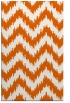 rug #210517 |  red-orange stripes rug