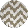 rug #210601 | round white stripes rug