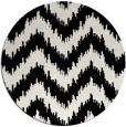 rug #210605   round black stripes rug
