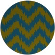 rug #210661 | round blue-green stripes rug