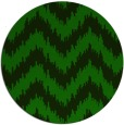 rug #210669 | round green stripes rug
