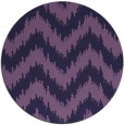 rug #210697 | round purple stripes rug