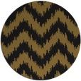 rug #210717 | round mid-brown stripes rug