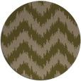 rug #210721 | round mid-brown stripes rug
