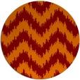 rug #210789 | round orange stripes rug