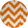 rug #210793 | round orange popular rug