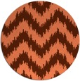 rug #210801 | round red-orange stripes rug
