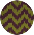 rug #210829   round purple stripes rug