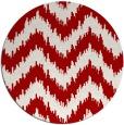 rug #210841   round red stripes rug