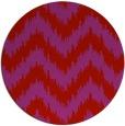 rug #210853   round red stripes rug