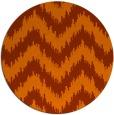 rug #210857 | round red-orange stripes rug