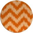 rug #210861 | round red-orange stripes rug