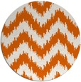 rug #210869 | round red-orange stripes rug