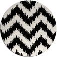 rug #210873   round black stripes rug