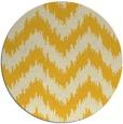 rug #210889 | round yellow stripes rug