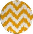rug #210937 | round light-orange stripes rug