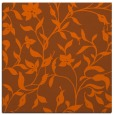 rug #213329 | square red-orange natural rug