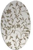 rug #213417 | oval white rug