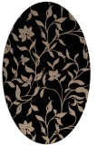 rug #213429 | oval black natural rug