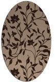 rug #213432 | oval natural rug