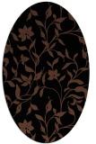 rug #213433 | oval black natural rug