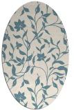 rug #213441 | oval blue-green natural rug