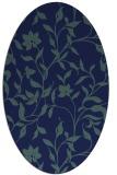 rug #213449 | oval blue popular rug