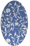 rug #213457 | oval blue rug