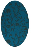 rug #213493 | oval blue-green natural rug