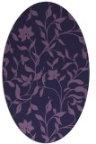 rug #213513 | oval purple natural rug