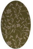 rug #213537 | oval brown rug