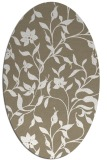 rug #213557 | oval white natural rug