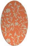 rug #213613 | oval orange rug