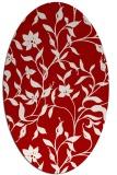 rug #213657 | oval red natural rug