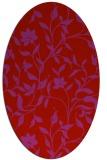 rug #213669 | oval pink natural rug