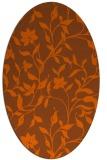 rug #213681 | oval red-orange popular rug