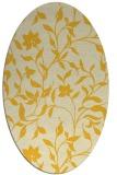 rug #213705 | oval yellow natural rug