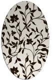 rug #213713 | oval brown rug