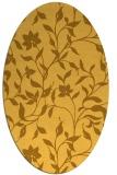 rug #213721 | oval yellow natural rug