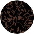 rug #214137 | round black natural rug