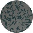 rug #214249 | round blue-green rug