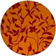 rug #214309 | round orange popular rug