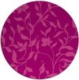 rug #214329 | round pink natural rug