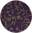rug #214353 | round purple natural rug